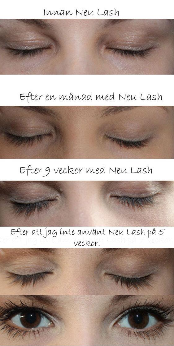 ricinolja ögonbryn före efter